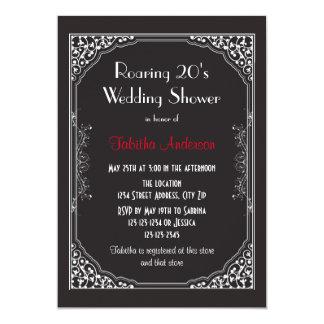 Brüllen 20s schwarz - Polterabend-Einladung 12,7 X 17,8 Cm Einladungskarte