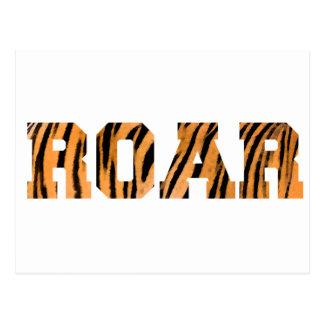 BRÜLLEN Tiger-Druck-Text-Entwurf Postkarte