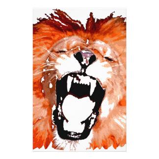 Brüllender Löwe Briefpapier