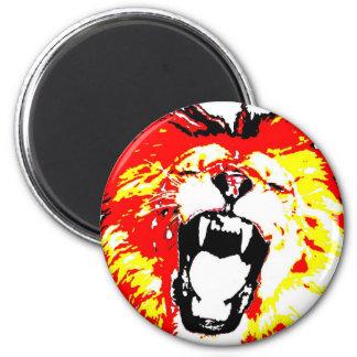 Brüllender Löwe Runder Magnet 5,1 Cm