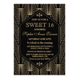 Brüllendes 20s großes Gatsby Party des 11,4 X 15,9 Cm Einladungskarte