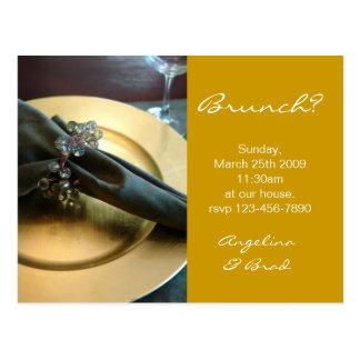 Brunch-Einladung Postkarte