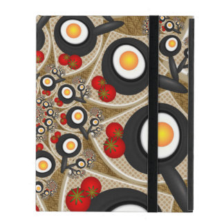 Brunch-Fraktal-Kunst-lustige Nahrung, Tomaten, iPad Schutzhüllen