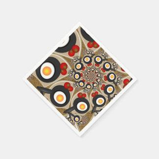 Brunch-Fraktal-Kunst-lustige Nahrung, Tomaten, Serviette