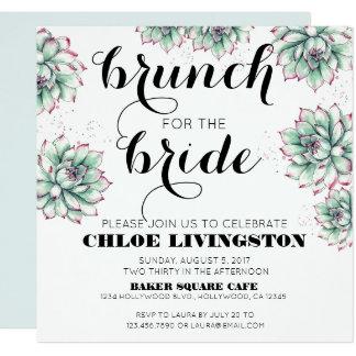 Brunch für die Braut-saftige Duschen-Einladung Karte