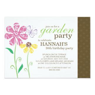 Brunch-Garten-Party-Geburtstags-Einladungen 12,7 X 17,8 Cm Einladungskarte