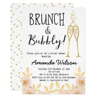 Schön Brunch Und Sprudelnde Brautparty Einladung Karte