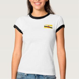 Brunei-Flagge + Karten-T - Shirt