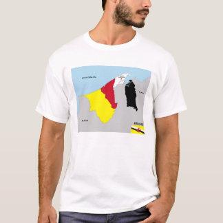 Brunei-Landkartenflagge T-Shirt