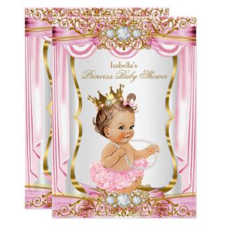Brünettes Duschen-Rosa-Seide-Gold Karte