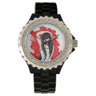 Brünettes Mädchen Armbanduhr