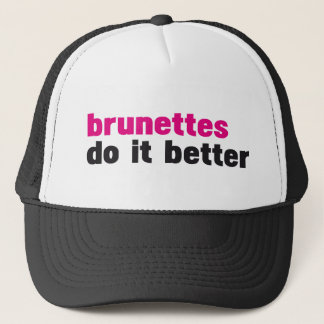 Brunettes verbessert es truckerkappe