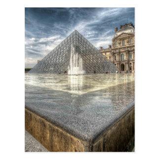 Brunnen am Louvre, Paris Frankreich Postkarte