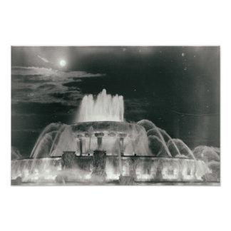 Brunnen Chicagos Illinois im Park nachts Fotodruck