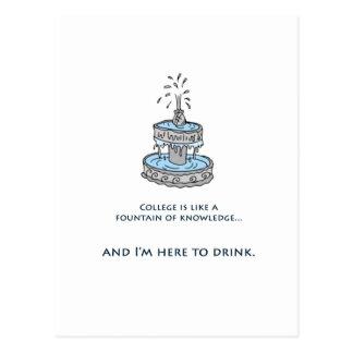 Brunnen des Wissens Postkarte