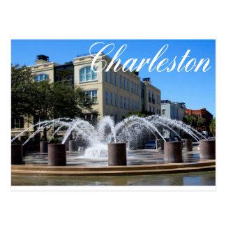 Brunnen-Postkarte (SC) Charlestons South Carolina Postkarte