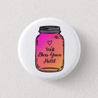 Brunnen segnen Ihren Herz-Weckglas-Knopf Runder Button 3,2 Cm
