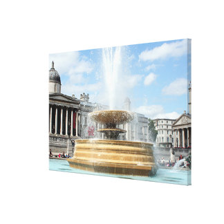 Brunnen, Trafalgar-Platz, London Leinwanddruck