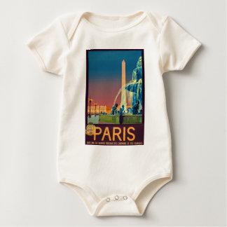 BrunnenObelisk Paris Frankreich Baby Strampler