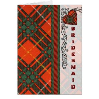 Brus Clan karierter schottischer Kilt Tartan Karte