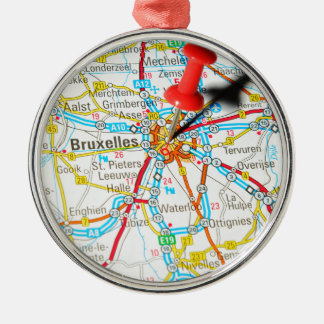 Brüssel, Brüssel, Brüssel in Belgien Silbernes Ornament