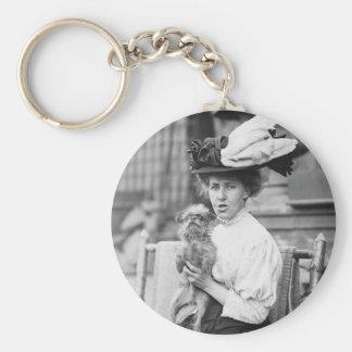 Brüssel Griffon, frühe 1900s Schlüsselanhänger