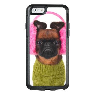 Brüssel Griffon mit rosa Ohrenschützern OtterBox iPhone 6/6s Hülle