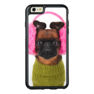 Brüssel Griffon mit rosa Ohrenschützern OtterBox iPhone 6/6s Plus Hülle