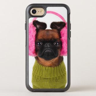 Brüssel Griffon mit rosa Ohrenschützern OtterBox Symmetry iPhone 8/7 Hülle