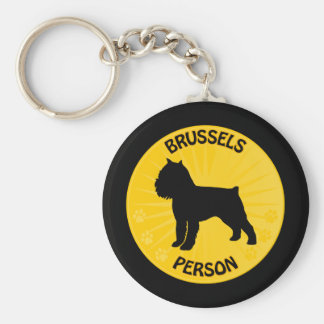 Brüssel Griffon Xing Schlüsselanhänger