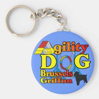 Brussels_Griffon_Agility Geschenke Schlüsselanhänger