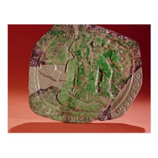 Brust eines Königs von Tikal Standort, Guatemala Postkarte