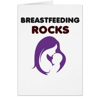 Brust-Füttern der Felsen Karte