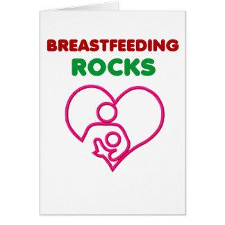 Brust-Füttern der Felsen, Mamma mit Baby Karte