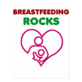 Brust-Füttern der Felsen, Mamma mit Baby Postkarte
