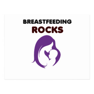 Brust-Füttern der Felsen Postkarte