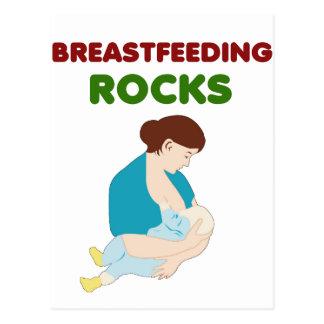 Brust-Füttern der Mammafelsen Postkarte