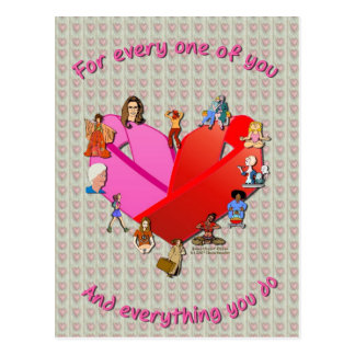 Brust-Herz Awareness01 Postkarte