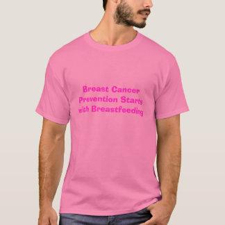 Brust-Krebsprävention-Anfänge mit stillen… T-Shirt