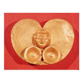 Brust mit tragenden Ohrringen eines menschlichen Postkarte