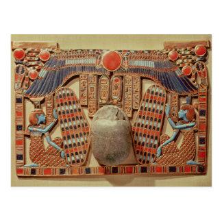 Brust verziert mit dem winged Scarabäus Postkarte