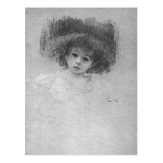 Brustbild eines Kindes durch Gustav Klimt Postkarte