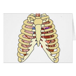 Brustkorb-Lungen u. Herz Karte