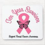 Brustkrebs-10-jähriger Überlebender Mauspad