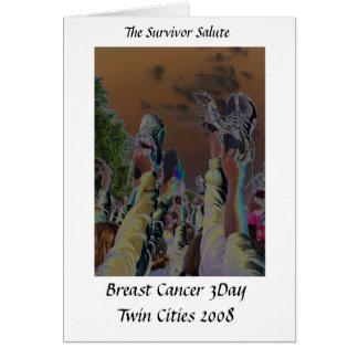Brustkrebs 3 Tagesanmerkungskarte Karte