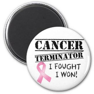 Brustkrebs-Abschlussprogramm Runder Magnet 5,7 Cm