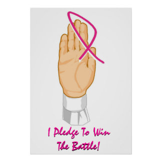 Brustkrebs-Bewusstsein, das ich verspreche, um den Posterdrucke