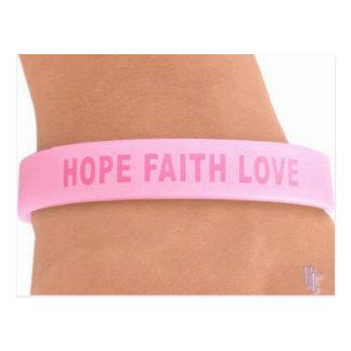 Brustkrebs-Bewusstsein (Hoffnung, Glaube, Liebe) Postkarte