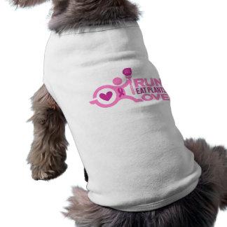 Brustkrebs-Bewusstsein - Lauf+Essen Sie Shirt