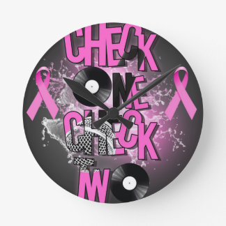 Brustkrebs-Bewusstsein Runde Wanduhr